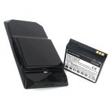 Подсилена Батерия  за HTC Touch Diamond + заден капак
