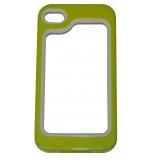 Силиконов Бъмпер за iPhone 4/4S с твърда лайсна в зелено